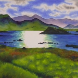 "HIghland Afternoon. Watercolour. 20x27"". Artist Lianne Todd. $950.00"
