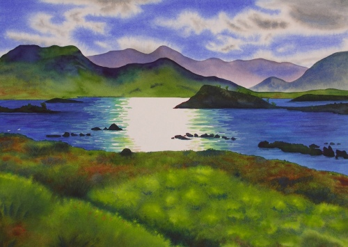 "HIghland Afternoon. Watercolour. 20x27"". Lianne Todd. $900.00"