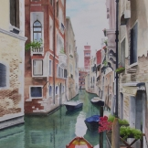 "Venice 2015. Watercolour on Paper. 15x22"". Commissioned. Private Collection. Artist Lianne Todd."