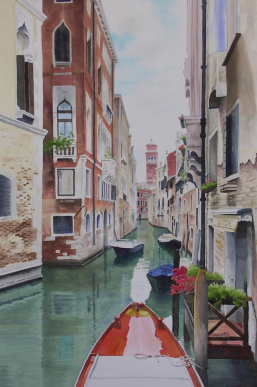 "Venice 2015. Watercolour on Paper. 15x22"". Lianne Todd. Commissioned."