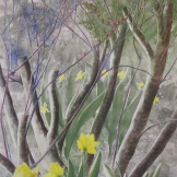 "New Growth. Watercolour on Gessoed paper. 15x22"". Artist Lianne Todd. $475."