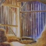 "A Place for Lofty Thoughts. Watercolour on Gessoed Paper. 15x22"". SOLD. Private Collection. Artist Lianne Todd."