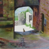 "Cat of Monte Dei Bianchi. Watercolour on Paper. 15x22"". Artist Lianne Todd. $475.00"