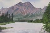 "Pyramid Mountain, Jasper. Watercolour on Paper. 15x22"". Artist Lianne Todd. $450.00"