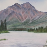 "Pyramid Mountain, Jasper. Watercolour on Paper. 15x22"". Artist Lianne Todd. $475.00"