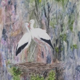 "Their Own Little Paradise. Watercolour on Yupo. 13x20"". Artist Lianne Todd. $475.00."
