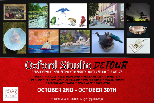 Invitation to Oxford Studio Detour show